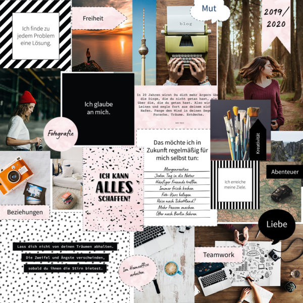 "Vision Board Set - ""Black & White"" (Digital Download)"